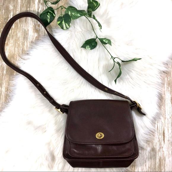 e29010c19f Coach Handbags - Coach Vintage Leather Cross Body Bag Brown Strap